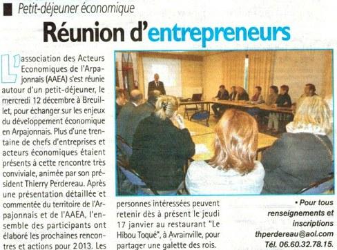 AAEA meeting entrepreneurs arpajonnais